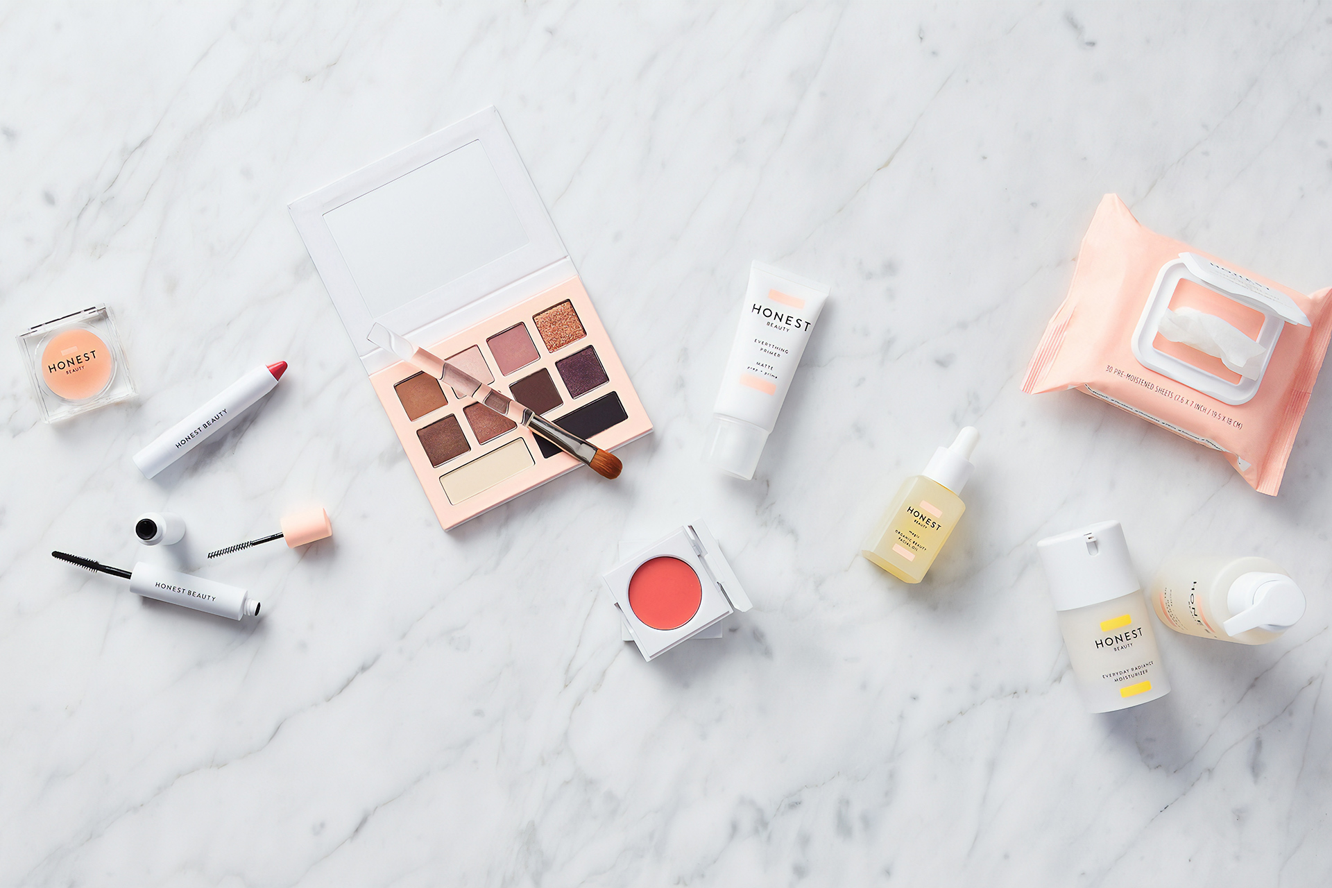 Flat lay with cosmetics